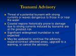 tsunami advisory