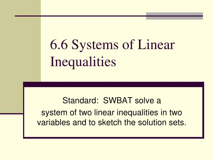 6 6 systems of linear inequalities n.