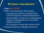 bp control how important