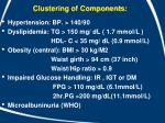 clustering of components
