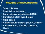 resulting clinical conditions