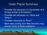 outer planet summary