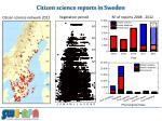 citizen science reports i n sweden
