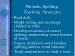 phonetic spelling teaching strategies