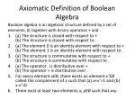 axiomatic definition of boolean algebra