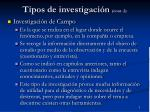 tipos de investigaci n cont 2