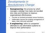developments in revolutionary change