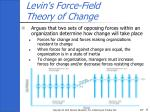 levin s force field theory of change