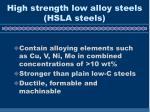high strength low alloy steels hsla steels