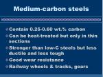 medium carbon steels