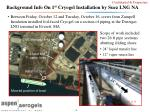 background info on 1 st cryogel installation by suez lng na