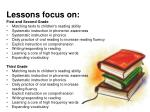 lessons focus on