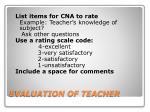evaluation of teacher