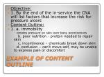 example of content outline