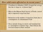 how solid waste affected us in recent years