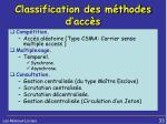 classification des m thodes d acc s