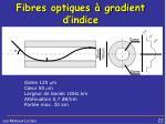 fibres optiques gradient d indice