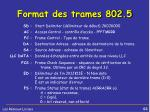 format des trames 802 51