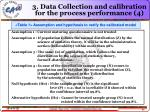 3 data collection and calibration for the process performance 4