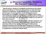 5 process capability model to the earned value 1