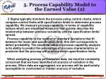 5 process capability model to the earned value 2