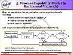 5 process capability model to the earned value 6