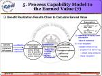 5 process capability model to the earned value 7