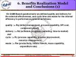 6 benefits realization model and conclusions 1