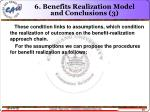 6 benefits realization model and conclusions 3