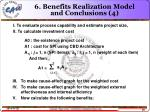 6 benefits realization model and conclusions 4