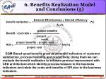 6 benefits realization model and conclusions 5
