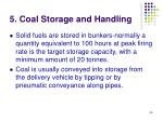 5 coal storage and handling