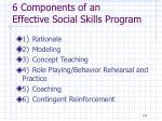 6 components of an effective social skills program