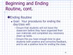 beginning and ending routine cont