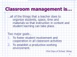 classroom management is