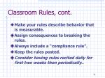 classroom rules cont