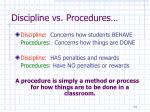 discipline vs procedures