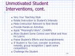 unmotivated student interventions cont