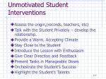 unmotivated student interventions