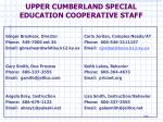 upper cumberland special education cooperative staff