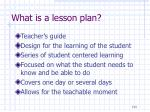 what is a lesson plan