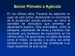 sector primario o agr cola