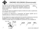 uniones soldadas dimensionado