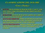classificazione del dolore crue e pinsky