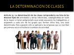 la determinacion de clases