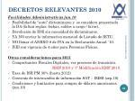 decretos relevantes 2010
