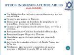 otros ingresos acumulables art 20 lisr