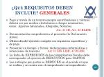 qu requisitos deben incluir generales1