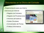 documentos en la oficina del contralor