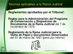 normas aplicables a la rama judicial